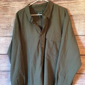 Woolrich light olive shirt